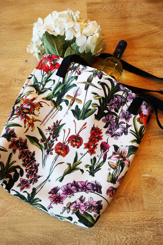 Shop for French Flowers Fleurs Vintage Print Tote Bag 2 - Orion Wells