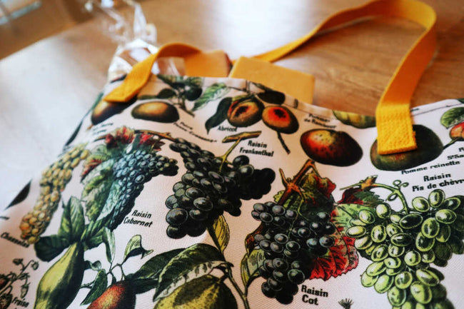 Shop for Fruit Illustration Vintage Print Tote Bag - Orion Wells