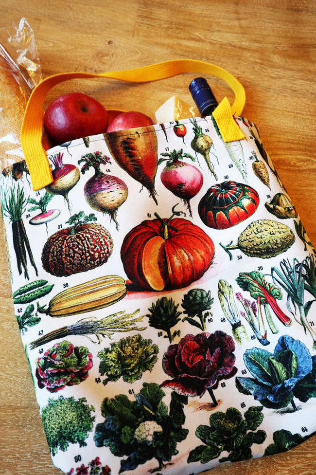 Shop for Vegetables Illustration Vintage Print Tote Bag - Orion Wells