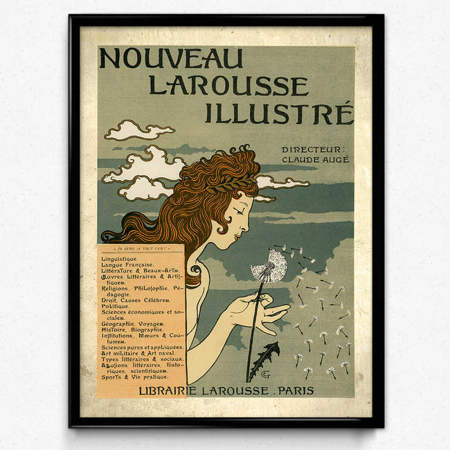 Art Nouveau Larousse French Swiss Vintage Print (VP1008) - Orion Wells
