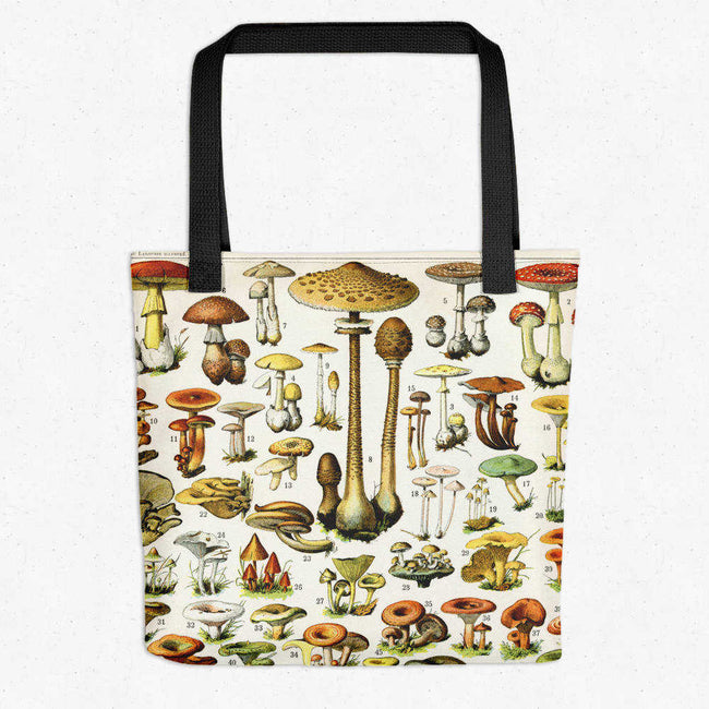 Shop for Mushrooms Vintage Print Tote Bag - Orion Wells