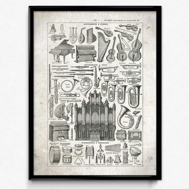 Shop for Music Vintage Print 1 - Orion Wells