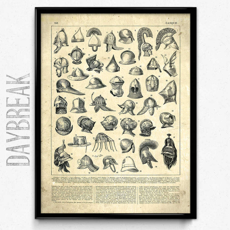 Armory Weapons Vintage Print 2 - VP1054 - Orion Wells