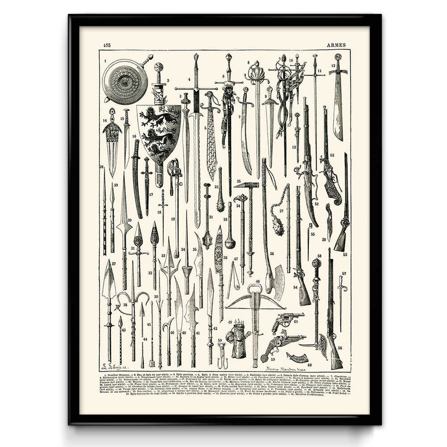 Armory Weapons Vintage Print 3 - VP1055 - Orion Wells