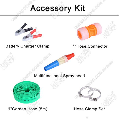 Accessory Kit for DC Sump Pump