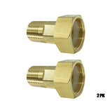 "BACOENG Brass Female Swivel, 3/4"" NPT Female x 1/2"" NPT Male Connection 2PK"