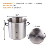 25 QT/ 6 Gal Brew Kettle(Weldless Fittings)