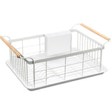 Stainless Steel Large Dish Rack (White)