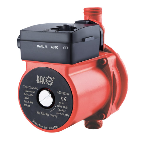 "110V 3/4"" CIRCULATION PUMP WITH BUILD IN SWITCH"
