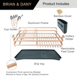 Aluminum Dish Drying Rack ( Rose Gold)