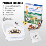 BACOENG Outdoor Pet Dog Water Sprinkler Easy Activated Dog Water Fountain Toy