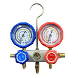 "Manifold Gauge Set for R134a System w/ 1/4"" SAE Adjustable Quick Couplers"