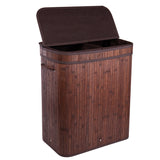 Divided Bamboo Laundry Basket (Brown/Nature/Gray/Black)
