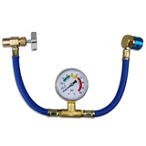 R134a AUTO AC U-Charge Hose with Gauge and Can Tap HVAC