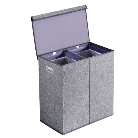 Double Laundry Hamper with lid