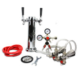 Double Faucet Tower Keg System No Tank Conversion Kit