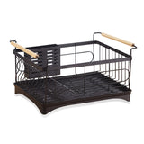 Stainless Steel Large Dish Rack (Black)