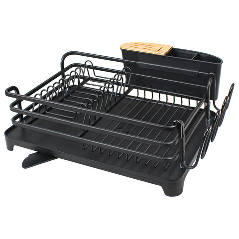 Aluminum Dish Drying Rack ( Black)