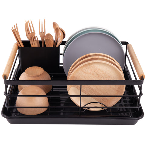 Stainless Steel Dish Rack (Black)
