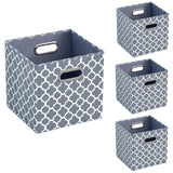 Foldable Storage Cube Bins (Beige/Blue)