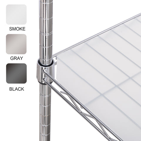 Wire Shelf Liners 4Pk (Smoke,Gray,Black)