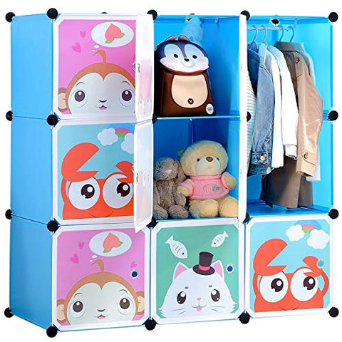 9-cube Cartoon Portable Closet