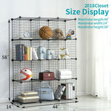 Metal Wire Storage Cubes(12 Cubes)
