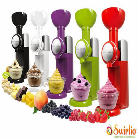 Swirlio Frozen Fruit Dessert Maker Fruit Ice Cream Machine Or Electric Ice Cream Maker 110V-240V, EU or US plug