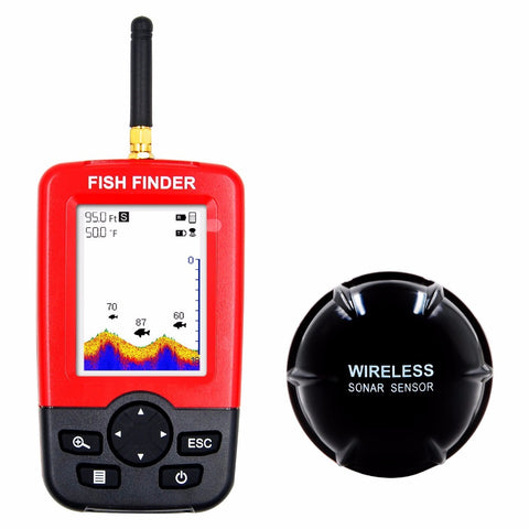 Alarm 100M Portable Sonar LCD Wireless Fish Finder Fishing lure Echo Sounder Fishing Finder fishfinder