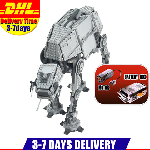 1137PCS LEPIN 05050 Star Wars Motorized Walking AT-AT Model Building Kit Set Blocks Bricks Toy Clone 10178