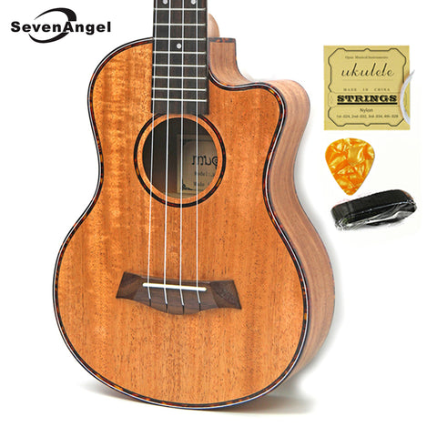 23 inch Mahogany Ukelele Missing Angle Ukulele Hawaiian 4 Strings Guitar Music Instrument Electric Ukulele with Pickup EQ