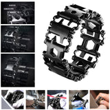Stainless Steel Outdoor 29 Kinds of Multi-functional Tool Bracelet. Portable Multi Tools for Camping Hiking