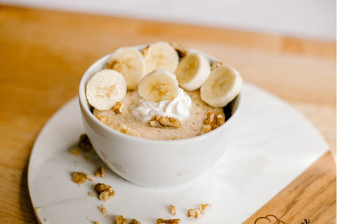 Banana Walnut Protein Power Bowl recipe