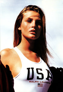 Bridgett Hall models Polo Sport in a 1997 ad.