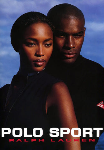 Naomi Campbell and Tyson Beckford in a Polo Sport ad.