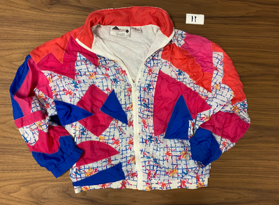 Aviat Sportif 80s Geometric Windbreaker Jacket - White