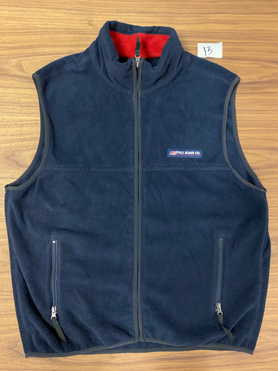 Polo Jeans Co. Fleece Polo Vest - Navy