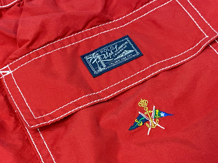 Polo by Ralph Lauren Tall Swim Trunks - Red