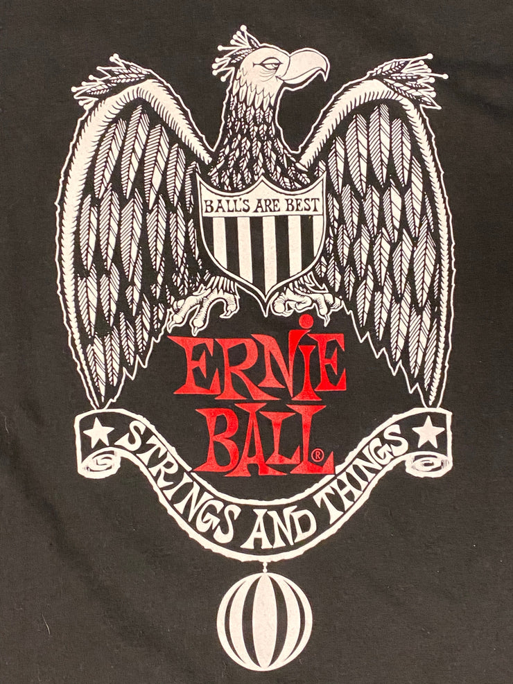 Champion Ernie Ball strings and things balls are the best Tee - Black