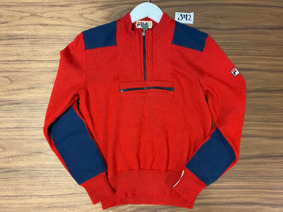 Fila Half Zip Sweater - Red