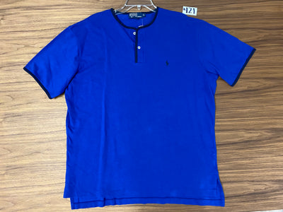 Polo Ralph Lauren Button Neck Shirt - Blue