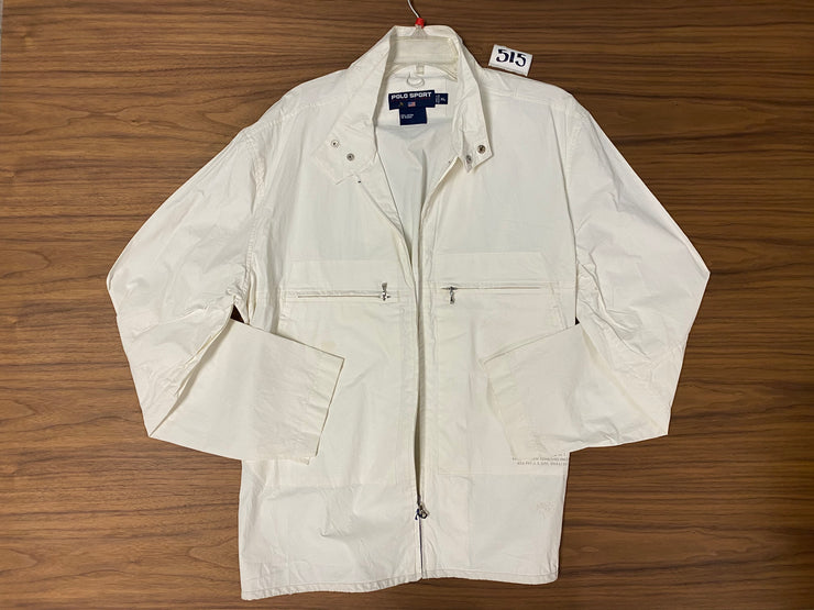 Polo Sport Zip Up Jacket - White