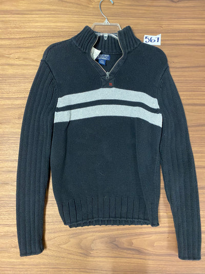 Polo Knit Sweater - Black