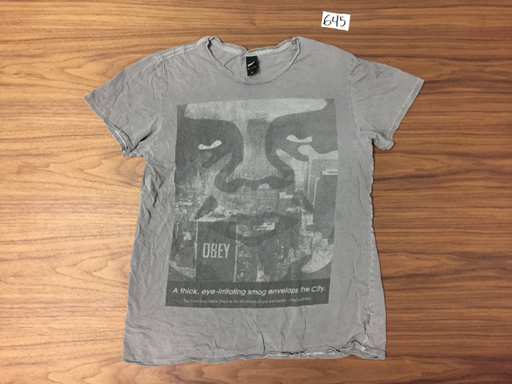 Obey Andre Faced T Shirt - Grey