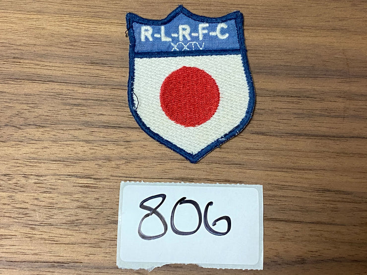 R-L-R-F-C Japanese Flag Patch - White