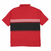 POLO SPORT SPELL OUT STRIPE SS POLO // RED BLACK WHITE