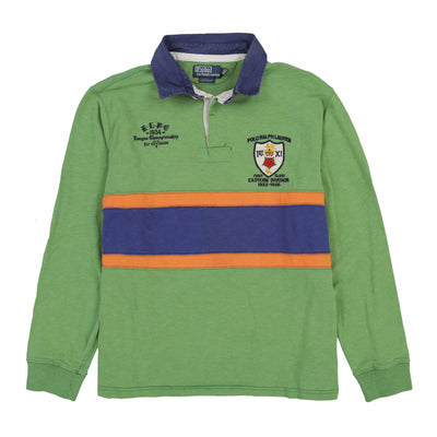 RUGBY EASTERN DIVISION LS POLO // BLUE GREEN ORANGE