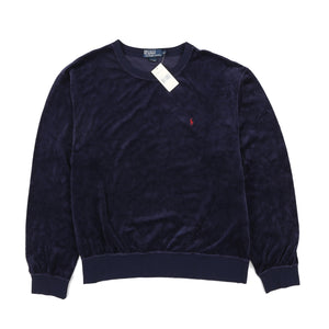 POLO CLASSICS1 VELOUR CREWNECK // NAVY