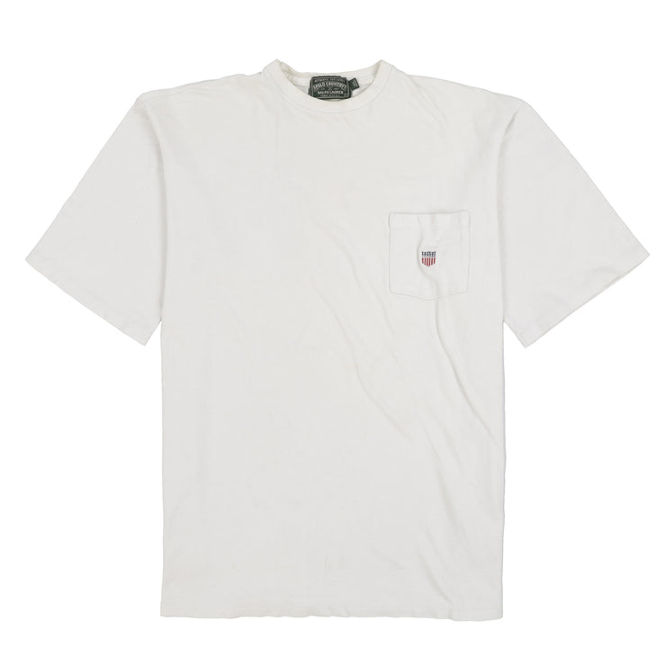 POLO COUNTRY SHIELD PIQUE TEE // WHITE