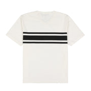 POLO SUMMER V NECK TEE // WHITE BLACK